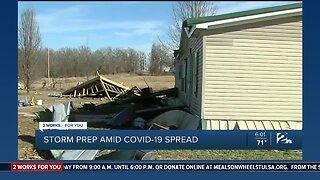 Storm prep amid COVID-19 spread