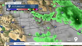 Better chances of thunderstorms and below average temps on the way