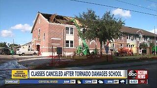 Classes canceled after tornado damages Kathleen Middle School