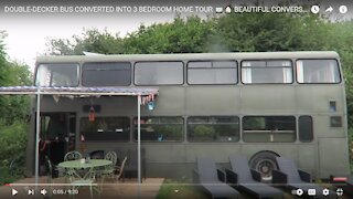 Double Decker Bus Converted Into Beautiful Home