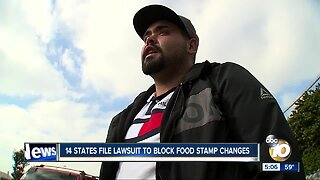 14 states sue to block food stamp changes