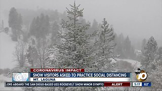 Snow visitors asked to practice social distancing