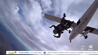 100-year-old veteran celebrates birthday with skydiving adventure