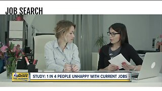 Study: 1 in 4 people unhappy with current jobs