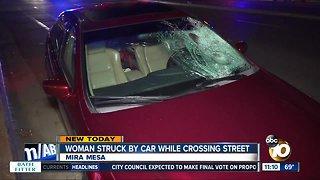 Woman struck by car in Mira Mesa
