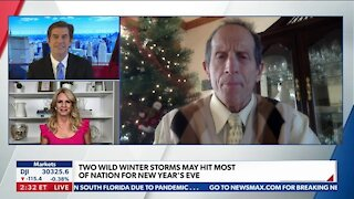TWO WILD WINTER STORMS MAY HIT MOST OF NATION FOR NEW YEAR'S EVE