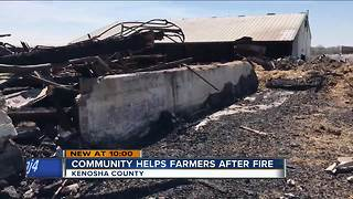 Fundraiser held for Wheatland farming family who lost barn in fire