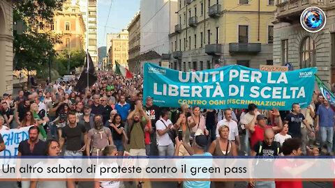 Un altro sabato di proteste contro il green pass