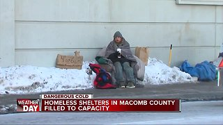 Homeless shelters in Macomb County filled to capacity