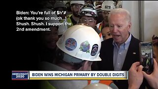Biden wins Michigan primary after viral confrontation with Detroit auto worker