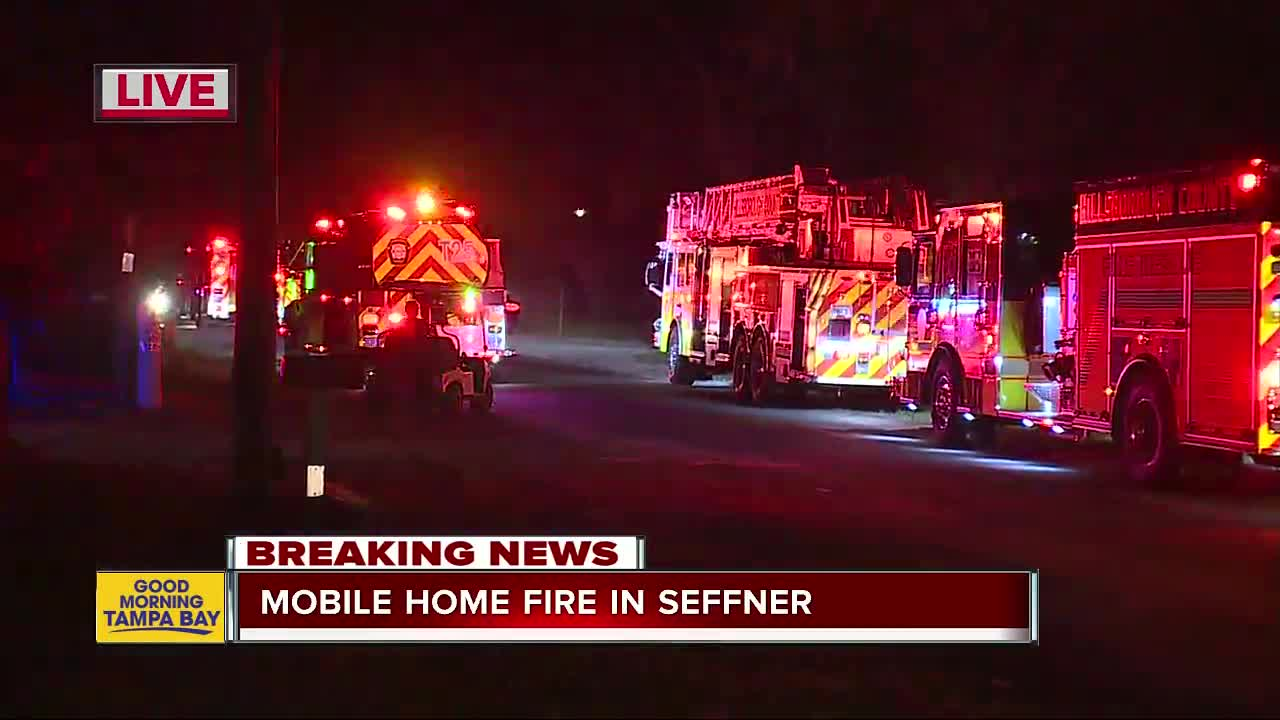 Firefighters on scene of mobile home fire in Seffner