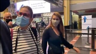 Woman Harasses Sen Sinema On Climate Change