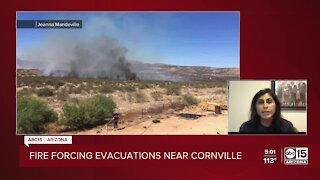 Crews battling Cornville Fire burning south of Sedona