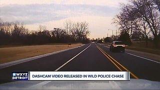 New dashcam video shows suspect in stolen cruiser leading Sterling Heights police on chase