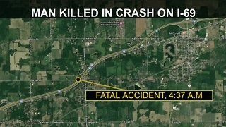 Man killed in early morning crash on I-69
