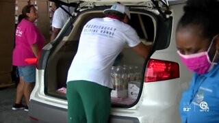 Free drive-through food distribution held in Riviera Beach