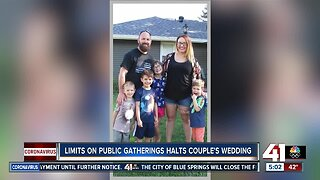 CDC limit on public gatherings halts local couple's wedding