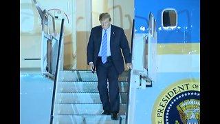 President Trump arrives in Las Vegas