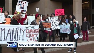 Groups protest conditions at Cuyahoga County Jail