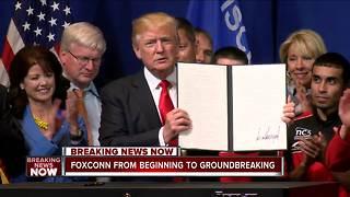 President Trump's Foxconn visit: How we got here