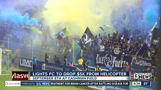 Las Vegas Lights FC to drop cash from a helicopter