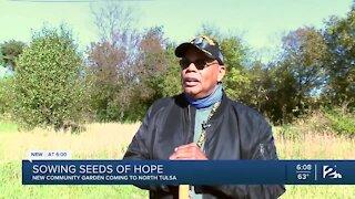 North Tulsa Army veteran breaks ground on new community garden