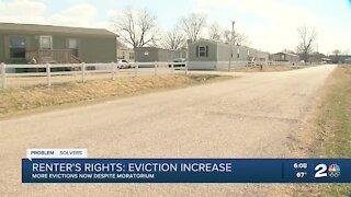 Evictions increase despite federal moratorium