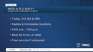 Free flue shots this weekend