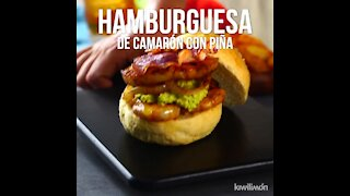 Shrimp Burger with Pineapple