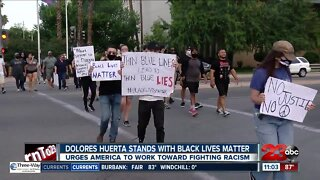 Dolores Huerta stands with Black Lives Matter movement