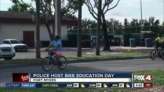 Fort Myers police teach bike education