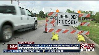 Construction on busy Broken Arrow road