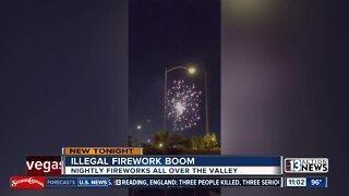 Illegal fireworks seen nightly across Las Vegas