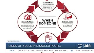 Signs of abuse in people with disabilities