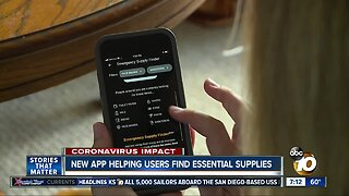 App helps users locate where essential items are in stock