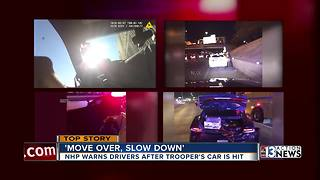 UPDATE: Nevada Highway Patrol highlights move over law after releasing dramatic video