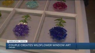 Creating Wildflower Window Art
