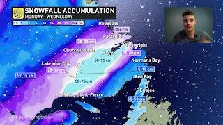 Paralyzing blizzard targeting Labrador, crippling snow amounts forecast
