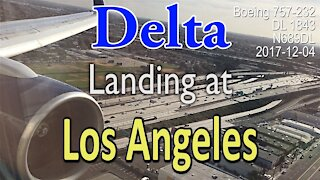 20 year old Boeing 757-232 does perfect landing at LAX #Delta #DL1843 #N689DL