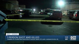 Fatal shooting near 70th Ave and Indian School Rd