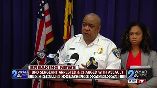 Baltimore Police sergeant arrested for assault, misconduct caught on body camera footage
