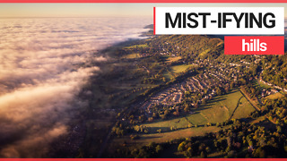 Photographer captures stunning drone footage of mist rolling over the Malvern Hills
