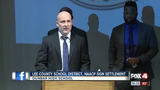Lee County School District, NAACP sign settlement