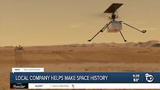 Local company helps make space history