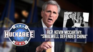 EXCLUSIVE: Swalwell DEFENDED CHINA Over Criticism | Rep. Kevin McCarthy | Huckabee