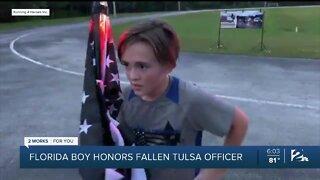 Florida boy honors fallen Tulsa officer