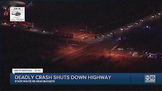 Deadly crash shuts down SR85