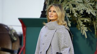 First Lady Melania Trump Gives Farewell Address