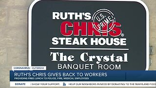 Ruth Chris gives back to workers, providing free lunch to police, fire, medical employees