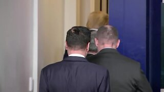 WATCH: President Trump pulled from presser after shooting outside White House